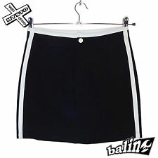 BALIN 'B52 SKIRT' WOMENS MINI SKIRT BLACK SURF BOARD SHORT UK 8 BNWT RRP £26