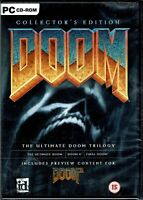 Doom Collector's Edition The Ultimate Doom Trilogy PC New XP 3 Great Shooters