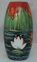 Anita Harris Lily Skittle Vase - signed in gold to base - 19cm tall
