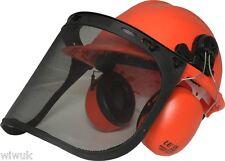 Motosierra Forestal Casco Strimming Kit (incluso visera de malla y defensores de oído)