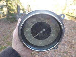 1934 Chevy Master Speedometer Gauge 28,569 Miles Chevrolet Speedo
