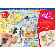 Scribble Down Transfers XL Activity Pack - Pirates Treasure Map