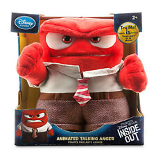 """Authentic Disney Store Pixar Inside Out Animated Talking Anger Plush 9"""" NEW!"""