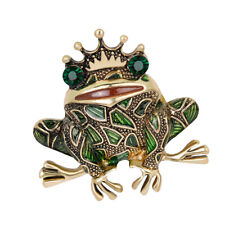 Female Frog Animal Alloy Unique Suit Brooch Pin Wedding Party Accessory
