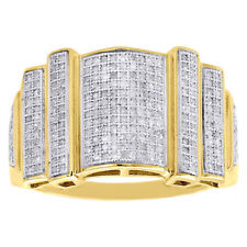 Band Pinky Fashion Ring 1.53 Carat New Mens Yellow Gold Finish Vvs1 Diamond
