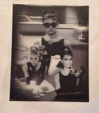 Audrey Hepburn 3D Holographic Breakfast at Tiffanys Montage Plastic Print 8 x 10