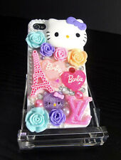Kawaii iPhone 4/4S Case LV Barbie Hello Kitty Cabochons Bling Resin Hand Crafted