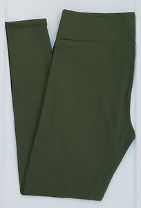 OS LuLaRoe One Size Leggings Beautiful Solid Army Green NWT 03