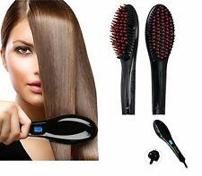 Ceramic Led Hot Scalp Massager Styling Brush Hair Straightener Electric HRTC02