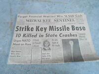 JUNE 6 1960 MILWAUKEE SENTINEL newspaper section STRIKE KEY MISSILE BASE - NATO