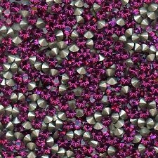 1028 PP24 F *** 50 strass Swarovski fond conique 3,1mm FUCHSIA F