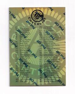 1997 Pinnacle Certified MIRROR GOLD #NNO Checklist 1 VERY SCARCE!