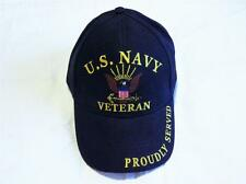 UNITED STATES NAVY VETERAN EMBROIDERED BASEBALL CAP
