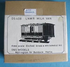 Boxed D & S 4mm Brass & White Metal Kit DS 408 - LNWR 6 Wheel Milk Van