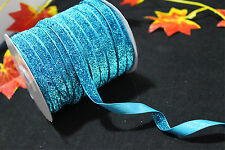 5-50yd Velvet Ribbon Trim Cord Craft Making Headband Bling Wedding Decoration