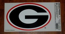 """GEORGIA POWER G 9"""" X 15"""" CLEAR STATIC CLING RED AND BLACK  USA MADE REAR WINDOW"""