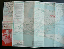 Gregory's SEACRAFT MAP of QLD Moreton Bay Whitsundays 1950's/1960's vintage old