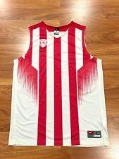 NIKE OLYMPIACOS PIRAEUS BC GREECE MENS BASKETBALL JERSEY FIBA EUROLEAGUE FINAL L