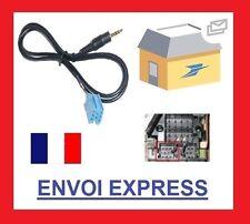 Cable auxiliaire mp3 mini iso autoradio jack blaupunkt grundig becker audi ipad