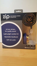 New Boxed Urbanz Zip Colour Your World Childrens Stereo Headphones Blue Zip-CBL