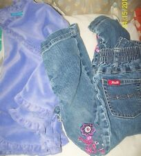 Girls Sz 3T The Childrens Place Scalloped Purple Top & MUDD Floral Scrunch Jeans