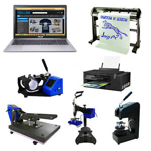 Heat Press Business Sublimation Printer Vinyl Cutter T-shirt Printing Package