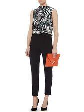 BY LINEA MULTI COLOURED PALM PRINT POPOVER JUMPSUIT Dress Blouse SIZE 12 RRP £99