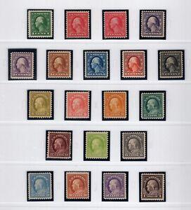 US Stamps Scott #498-518* MH Set, Cat: $324.20. No #500, 505