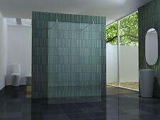 freistehende 140 Duschwand Duschabtrennung Walk Dusche Duschtrennwand 10 mm Glas