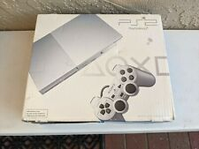 Sony PlayStation 2 PS2 Slim Satin Silver SCPH-90001 Authentic BOX ONLY w/Inserts