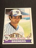 1979 Topps #24 Milwaukee Brewers Paul Molitor 2nd Year Card! NM No Reserve!