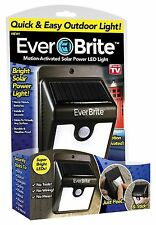 Ever Brite Outdoor Motion Activated Body Sensor Solar Power LED Light Sticky Fit