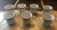 Set of 7 Crown Ming Jian Shiang Adriana 12oz Fine China Coffee Tea Cups Mugs