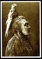 ⫸ 905 Postcard TWO WHISTLES, Apsaroke-Mountain Crow 1908 Photo Edward Curtis NEW