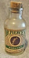 Antique Bottle Medicinal/Pharmacy Dr Pierce's Anuric Tablets