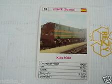 24 EK LOKS F3 RENFE SPAIN KLAS 1900 TRAIN TREIN KWARTET KAART,