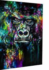 Leinwand Gorilla Abstrakt Affen Bilder Wandbilder - Hochwertiger Kunstdruck XXL