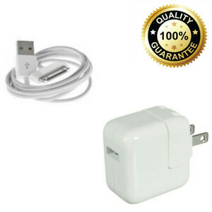 12W USB Power Adapter Wall Charger For Apple iPad 2 3 4 Air + 30 Pin Cable