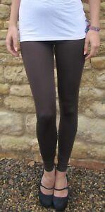 Petite Length Leggings Womens Viscose Elastane CHOCOLATE Size UK 6 8 10 12 14 16