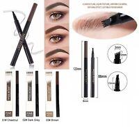 Microblading Tatto Waterproof 4 Fork Eyebrow Pen Pencil 3D Liquid Ink /Stencils