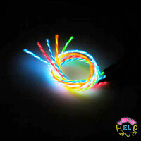 3m ULTRA Chasing EL Wire - £12 p/m for Super Bright Glowing Motion Wire