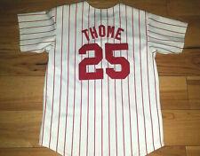 Boys Youth Majestic Philadelphia Phillies Jim Thome Baseball Jersey Stitched M