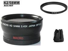 Digital Vision 58mm 0.45x HD Wide Angle Lens For Sony FDR-AX100 HDR-CX900