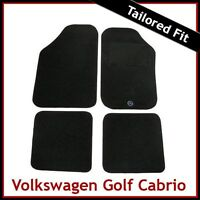 Volkswagen VW Golf Mk1 Cabriolet 1979-1993 Tailored Carpet Car Floor Mats BLACK