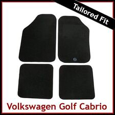 Volkswagen VW Golf Mk1 Cabriolet 1979-1993 Tailored Carpet Car Floor Mats BLACK