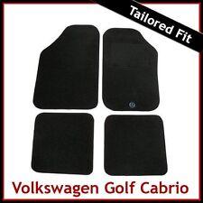 VOLKSWAGEN VW Golf Mk1 Caddy 1980-1993 SU MISURA MOQUETTE AUTO TAPPETINI NERO