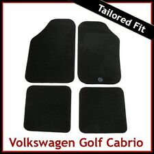 Volkswagen VW Golf Mk1 Cabriolet 1980-1993 Tailored Carpet Car Floor Mats BLACK