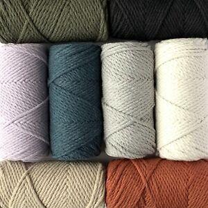 Macrame Cotton cord, 3-4 mm Twisted 65 yard Macrame cord, cotton macrame rope