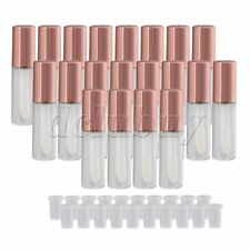 20x Rose Gold 1.2ml Empty Lip Gloss Tube Lip Balm Bottle w/ Stopper