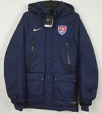 NIKE TEAM USA SOCCER DOWN PARKA JACKET STORM-FIT NAVY BLUE RARE NWT (SZ X-SMALL)